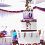 AFRICAN INSPIRED WEDDING CAKE