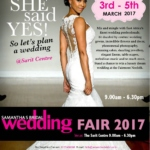 Welcome to the Samantha's Bridal Wedding Fair 3rd to 5th March 2017