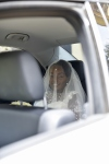 bride in car 1