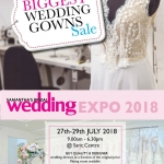 THE BIGGEST WEDDING GOWN SALE AT THE SAMANTHA'S BRIDAL EXPO FROM THE 27TH TO 29TH JULY